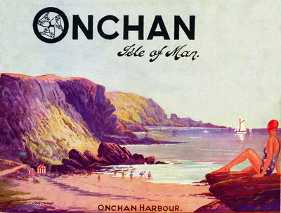 Official guide to Onchan, Isle of Man Season 1934 Wall Art & Canvas Prints by Isle of Man Steam Packet Co. Ltd.