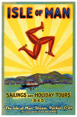 Sailings & Holiday Tours Season 1925 Wall Art & Canvas Prints by Isle of Man Steam Packet Co. Ltd.