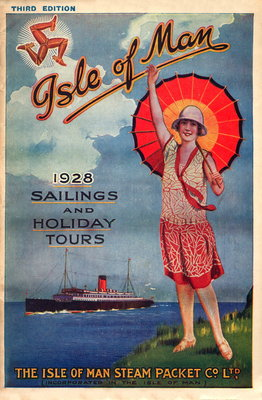 Sailings & Holiday Tours Season 1928 Wall Art & Canvas Prints by Isle of Man Steam Packet Co. Ltd.