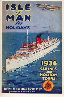 Sailings & Holiday Tours Season 1936 Wall Art & Canvas Prints by Isle of Man Steam Packet Co. Ltd.