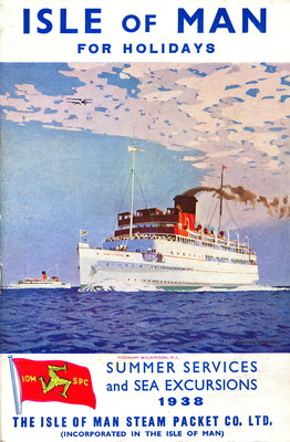 Sailings & Holiday Tours Season 1938 Wall Art & Canvas Prints by Isle of Man Steam Packet Co. Ltd.