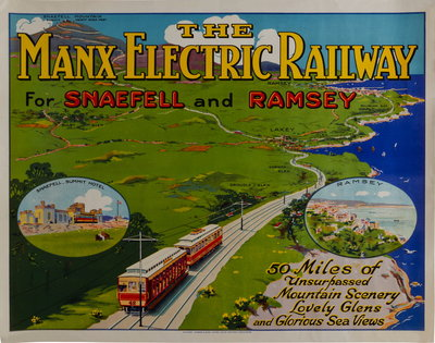 The Manx Electric Railway for Snaefell and Ramsey Wall Art & Canvas Prints by Richard Johnson