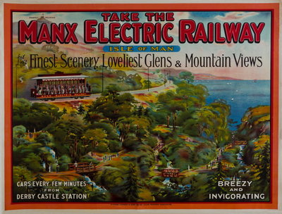 Take the Manx Electric Railway, Finest Scenery, Loveliest Glens & Mountain Views Wall Art & Canvas Prints by Richard Johnson