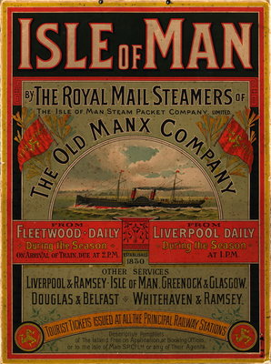 Isle of Man by the Royal Mail Steamers of the Old Manx Company Wall Art & Canvas Prints by Isle of Man Steam Packet Co. Ltd.