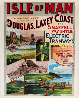 Isle of Man Picturesque Views on the Route of the Douglas, Laxey Coast & Snaefell Mountain Electric Tramways Wall Art & Canvas Prints by F.B. Ward