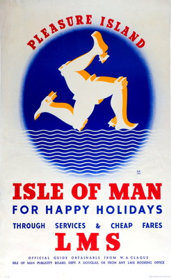Pleasure Island Isle of Man for Happy Holidays Wall Art & Canvas Prints by British Railways