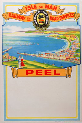 Isle of Man Railway and Road Services Peel Wall Art & Canvas Prints by Isle of Man Railway Co.