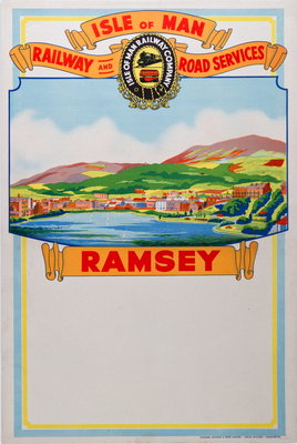 Isle of Man Railway and Road Services Ramsey Wall Art & Canvas Prints by Isle of Man Railway Co.