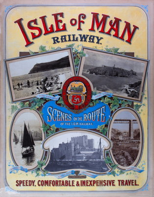 Scenes on the Route of the Isle of Man Railway Speedy Comfortable & Inexpensive Travel Wall Art & Canvas Prints by Isle of Man Railway Company