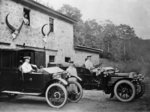 Men with 1905 Lanchester and 1906 Daimler at Fort Augustus Wall Art & Canvas Prints by William Henry Hunt