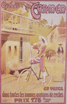 Poster advertising Carmen bicycles Wall Art & Canvas Prints by American School