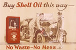 Poster advertising Shell oil Poster Art Print by Peter Miller