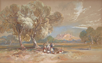 Athens Fine Art Print by Edward Lear