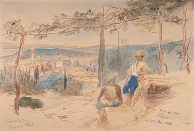 Potamos, Corfu Wall Art & Canvas Prints by Edward Lear
