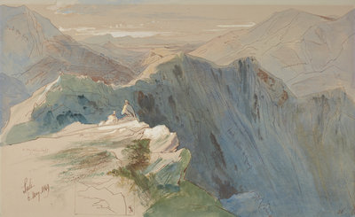 Suli, with subsidiary study of the composition Fine Art Print by Edward Lear