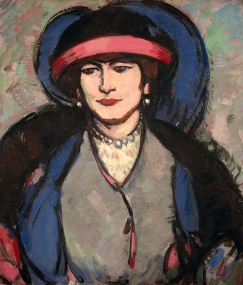 Portrait of Anne Estelle Rice Fine Art Print by John Duncan Fergusson