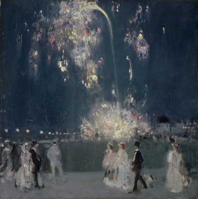 Dieppe, 14 July 1905 : Night Fine Art Print by John Duncan Fergusson