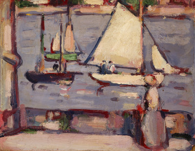 Twilight, Royan Wall Art & Canvas Prints by John Duncan Fergusson