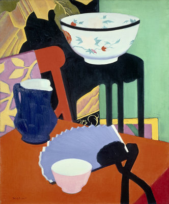 The Blue Fan Fine Art Print by Francis Campbell Boileau Cadell