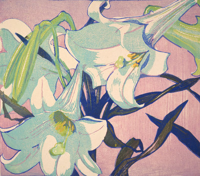 White Lilies Fine Art Print by Mabel Royds
