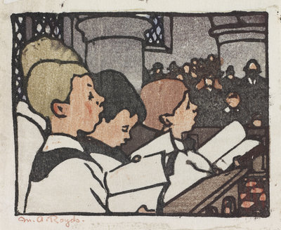 Choir Boys Fine Art Print by Mabel Royds