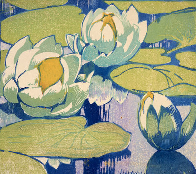 Water Lilies Fine Art Print by Mabel Royds
