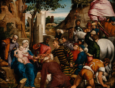 The Adoration of the Kings Fine Art Print by Jacopo Bassano