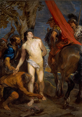 Saint Sebastian Bound for Martyrdom Fine Art Print by Sir Anthony van Dyck