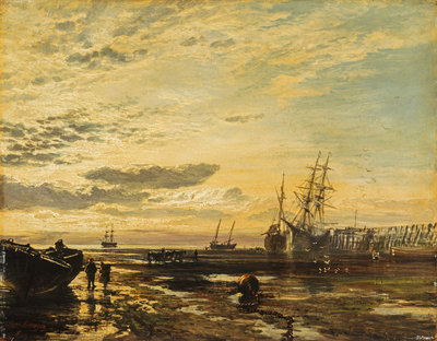 The Solway at Port Carlisle Fine Art Print by Samuel Bough