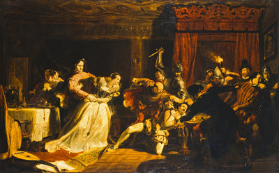 The Murder of David Rizzio Fine Art Print by Sir William Allan