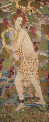 The Progress of a Soul: The Stress Fine Art Print by Phoebe Anna Traquair