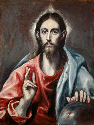 Christ Blessing ('The Saviour of the World') Wall Art & Canvas Prints by El Greco (Domenikos Theotokopoulos)