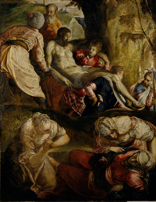 Christ Carried to the Tomb Fine Art Print by (Jacopo Robusti) Tintoretto