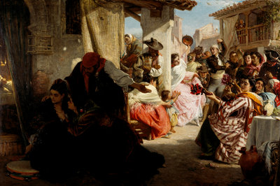 'La Gloria': A Spanish Wake Fine Art Print by John Phillip