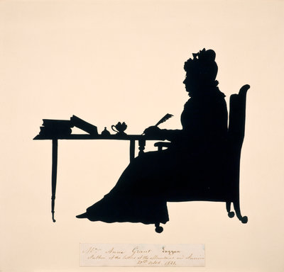 Anne MacVicar, Mrs James Grant of Laggan, 1755 - 1838. Writer Wall Art & Canvas Prints by Augustin Edouart