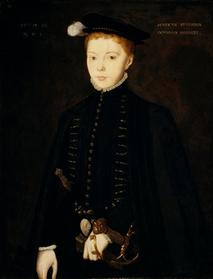 Henry Stuart, Lord Darnley, 1545 - 1567. Consort of Mary, Queen of Scots Fine Art Print by Hans Eworth
