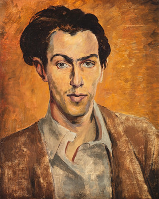 Robert Colquhoun, 1914 - 1962. Artist (Self-portrait) Wall Art & Canvas Prints by Robert Colquhoun
