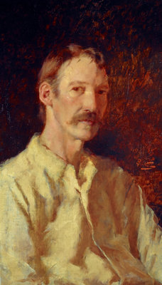 Robert Louis Stevenson, 1850 - 1894. Essayist, poet and novelist Fine Art Print by Count Girolamo Nerli
