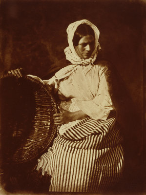 Mrs Elizabeth (Johnstone) Hall, Newhaven fishwife Fine Art Print by David Octavius Hill and Robert Adamson
