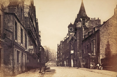 Tolbooth and Canongate, Edinburgh Fine Art Print by James Valentine