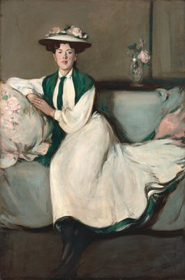 The White Dress: Portrait of Jean Fine Art Print by John Duncan Fergusson