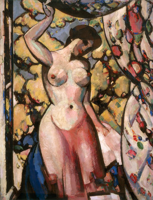At my Studio Window Fine Art Print by John Duncan Fergusson
