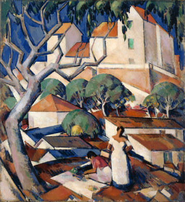 Christmas Time in the South of France Fine Art Print by John Duncan Fergusson