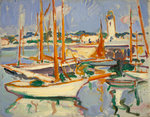 Boats at Royan Fine Art Print by Ian Cheyne