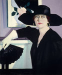 Portrait of a Lady in Black Fine Art Print by Francis Campbell Boileau Cadell