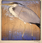 Heron (no. I) Postcards, Greetings Cards, Art Prints, Canvas, Framed Pictures, T-shirts & Wall Art by Ian Cheyne