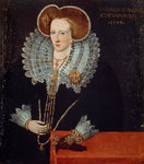 Lady Agnes Douglas, Countess of Argyll, about 1574 - 1607. Wife of the 7th Earl of Argyll by unknown - print