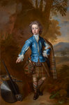 John Campbell, 3rd Earl of Breadalbane, 1696 - 1782. (as a child in highland costume) Fine Art Print by Count Girolamo Nerli