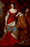 Queen Anne, when Princess of Denmark, 1665 - 1714. Reigned 1702 - 1714 by unknown - print