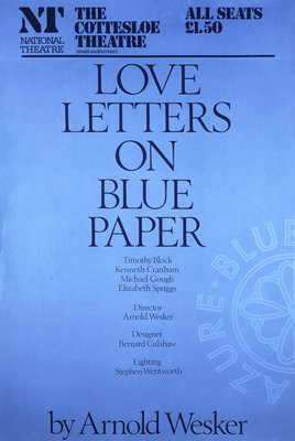 Love Letters on Blue Paper - print